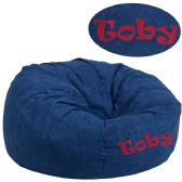 Personalized Oversized Denim Kids Bean Bag Chair - Soft Seating