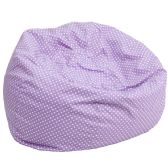 Oversized Lavender Dot Bean Bag Chair - Soft Seating