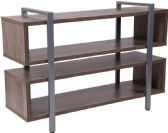 Harrison Rustic Wood Grain Finish TV Stand and Media Console - Media
