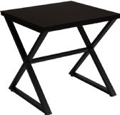 Larchmont Collection Espresso Wood Finish End Table with Contemporary Metal Legs - End