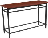 Granada Hills Collection Norway Cherry Inlaid Wood Grain Finish Console Table with Black Metal Legs - Sofa
