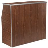 4' Walnut Laminate Foldable Bar - Banquet and Event