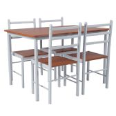 High Bridge 5 Piece Natural Finish Dinette Set with Chairs - Sets