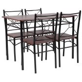 Sutton Place 5 Piece Mahogany Finish Dinette Set with Chairs - Sets