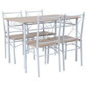 Sutton Place 5 Piece Natural Finish Dinette Set with Chairs - Sets