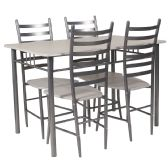 Manhattan 5 Piece Whitewashed Beech Finish Dinette Set with Chairs - Sets