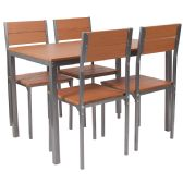 Castleton 5 Piece Cherry Finish Dinette Set with Chairs - Sets