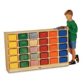 Jonti-Craft® 30 Cubbie-Tray Mobile Storage - with Colored Trays - Storage