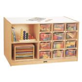 Jonti-Craft® Mobile Storage Island - with Clear Trays - Art