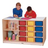Jonti-Craft® Mobile Storage Island - with Colored Trays - Art