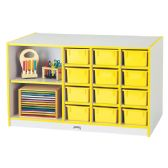 Rainbow Accents® Mobile Storage Island - with Trays - Yellow - Art