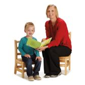 "Jonti-Craft Instructors Ladderback Chair - 12"" Height - Seating"