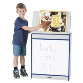 Rainbow Accents® Big Book Easel - Write-n-Wipe - Navy - Literacy