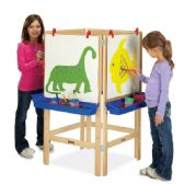 Jonti-Craft® 4 Way Adjustable Easel - Art