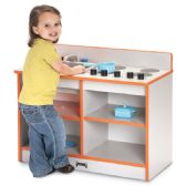 Rainbow Accents® Toddler 2-in-1 Kitchen - Orange - Dramatic Play