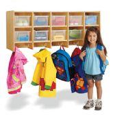 Jonti-Craft® 10 Section Wall Mount Coat Locker - with Clear Trays - Lockers