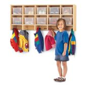 MapleWave® 10 Section Wall Mount Coat Locker - with Clear Cubbie-Trays - Lockers