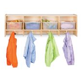 Jonti-Craft® 4 Section Wall Mount Coat Locker - with Clear Tubs - Lockers