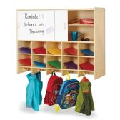 Jonti-Craft® 10 Section Wall Mount Coat Locker with Storage – without Cubbie-Trays - Lockers