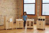 TrueModern® Play Kitchen Fridge - TrueModern
