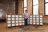 TrueModern® Twenty-Cubbie Shelf - with White Cubbie-Trays - TrueModern