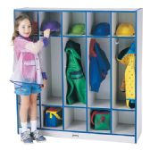 Rainbow Accents 5 Section Coat Locker - Blue - Lockers