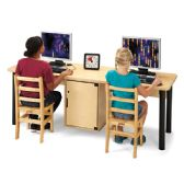 Jonti-Craft® Dual Computer Lab Table - STEM