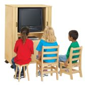 Jonti-Craft Euro-TV Cabinet - Teachers