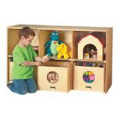 Jonti-Craft® See-n-Wheel Shelf with Bins - Block Play