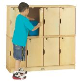 Jonti-Craft® Stacking Lockable Lockers -  Double Stack - ThriftyKYDZ® - After School