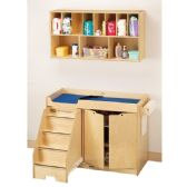 Jonti-Craft Changing Table - with Stairs Combo - Left - Toddlers Infants