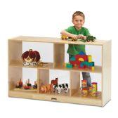 Jonti-Craft® Low Single Mobile Storage Unit - See-Thru Back - Block Play