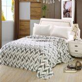 12 Units of Arrow Micro Plush Blankets - Twin Size Grey Only - Micro Plush Blankets