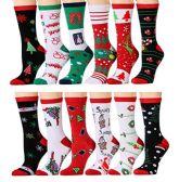 360 Units of Assorted Printed Christmas Crew Socks - Womens Crew Sock