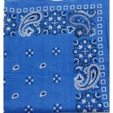 276 Units of Bandana-Royal Blue Paisley - Bandanas