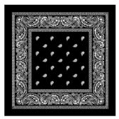 180 Units of BANDANA 109 COTTON BLACK - Bandanas