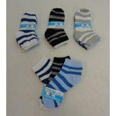 600 Units of Boy's Anklet Socks 4-6[Stripes] - Boys Ankle Sock