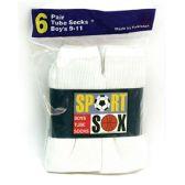 30 Units of Boy's Tube Socks size 9-11 - Boys Ankle Sock