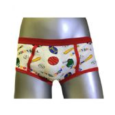 36 Units of Boys Cartoon Print Brief Size Large