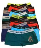 36 Units of Boys Seamless Boxer Shorts Assorted Color In Medium - Boys Underwear
