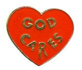 """96 Units of Brass Hat Pin, """"God Cares"""" - Hat Pins / Jacket Pins"""