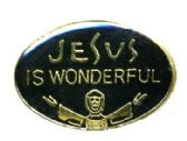"96 Units of Brass Hat Pin, ""Jesus Is Wonderful - Hat Pins & Jacket Pins"