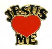 """96 Units of Brass Hat Pin, """"Jesus (loves) Me - Hat Pins / Jacket Pins"""