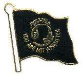 96 Units of Brass Hat Pin, POW Flag - Hat Pins / Jacket Pins