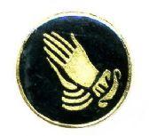 96 Units of Brass Hat Pin, Praying hands, - Hat Pins / Jacket Pins