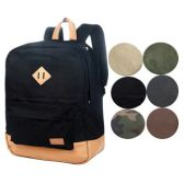 4 Units of CANVAS BACKPACK IN GREY - Backpacks