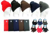 180 Units of Children's Cuffed Knit Hats, Magic Gloves, and Solid Scarves