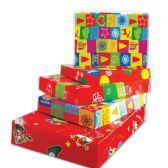 96 Units of Four Piece Xmas Gift Box Size XLarge - Gift Bags Christmas