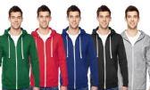 24 Units of Fruit Of The Loom Mens Full Zipper Hoodies Size SMALL - Mens Sweat Shirt