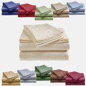 12 Units of FULL SIZE EMBOSSED STRIPED SHEET SET - Bed Sheet Sets